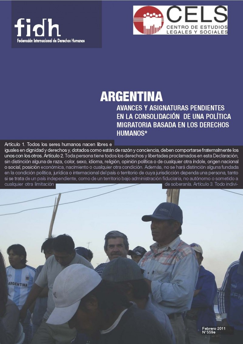 AVANCES Y ASIGNATURAS PENDIENTES EN LA CONSOLIDACIÓN DE UNA POLÍTICA MIGRATORIA BASADA EN LOS DERECHOS HUMANOS