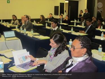 TALLER: Marco Jurídico Mexicano vigente en Materia de Migración y Protección Internacional