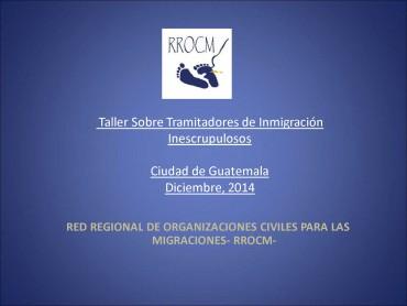 Taller sobre Tramitadores de Inmigración Inescrupulosos