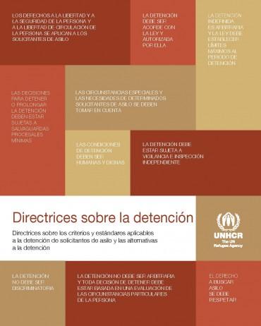 Directrices sobre la detención – Directrices sobre los criterios y estándares aplicables a la detención de solicitantes de asilo y las alternativas a la detención