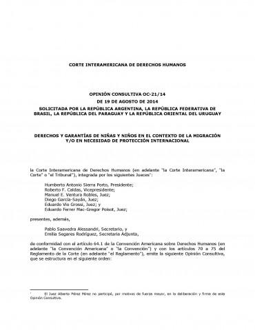 CIDH – Derechos y garantías de niñas y niños en el contexto de la Migración y/o en necesidad de Protección Internacional