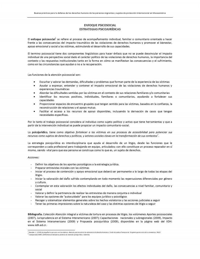Enfoque Psicosocial y Estrategias Psicojurídicas