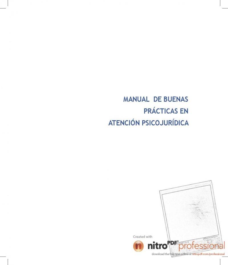 Manual de Buenas Prácticas en Atención Psicojurídica