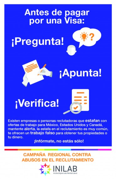 Campaña en prevención de estafas y fraudes en programas de trabajos temporales para México, Estados Unidos y Canadá