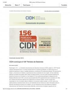 CIDH concluye el 156-¦ Peri¦üodo de Sesiones_Página_1