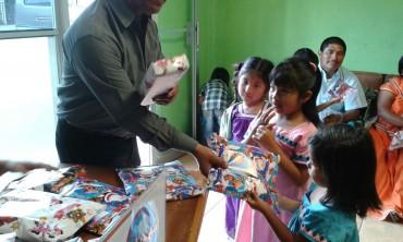 Celebración a Niños y niñas hijos de migrantes en la zona de los Santos y San Marcos, Costa Rica.