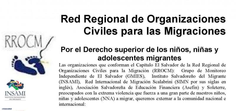 Comunicado de Prensa RROCM por el Derecho del Interés Superior del Niño, Niña y Adolescente Migrante