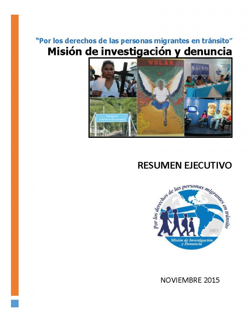 Resumen Ejecutivo Mision migrantes tránsito