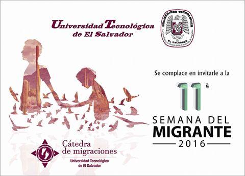 Semana del migrante de la Universidad Tecnológica de El Salvador