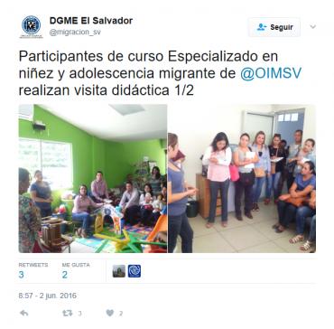 Participación del GMIES en curso especializado de niñez y adolescencia migrante