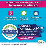 Invitación de Voluntariados, Pasantías y horas sociales.