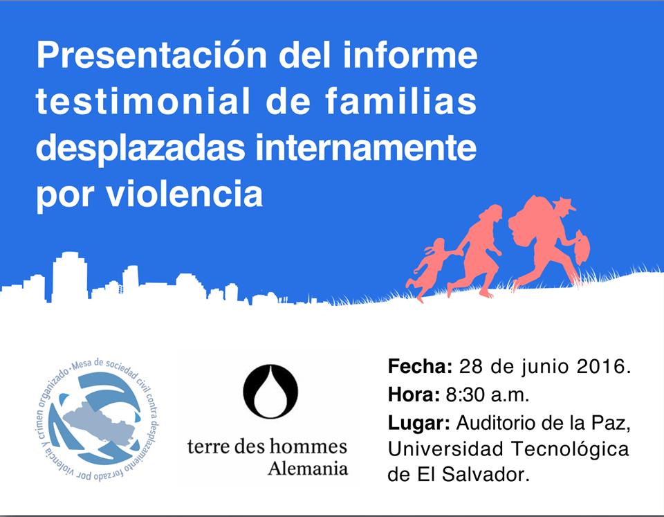 Ivitación a la presentación del informe de las familias desplazadas