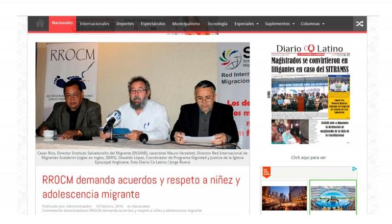 RROCM demanda acuerdos y respeto a niñez y adolescencia migrante
